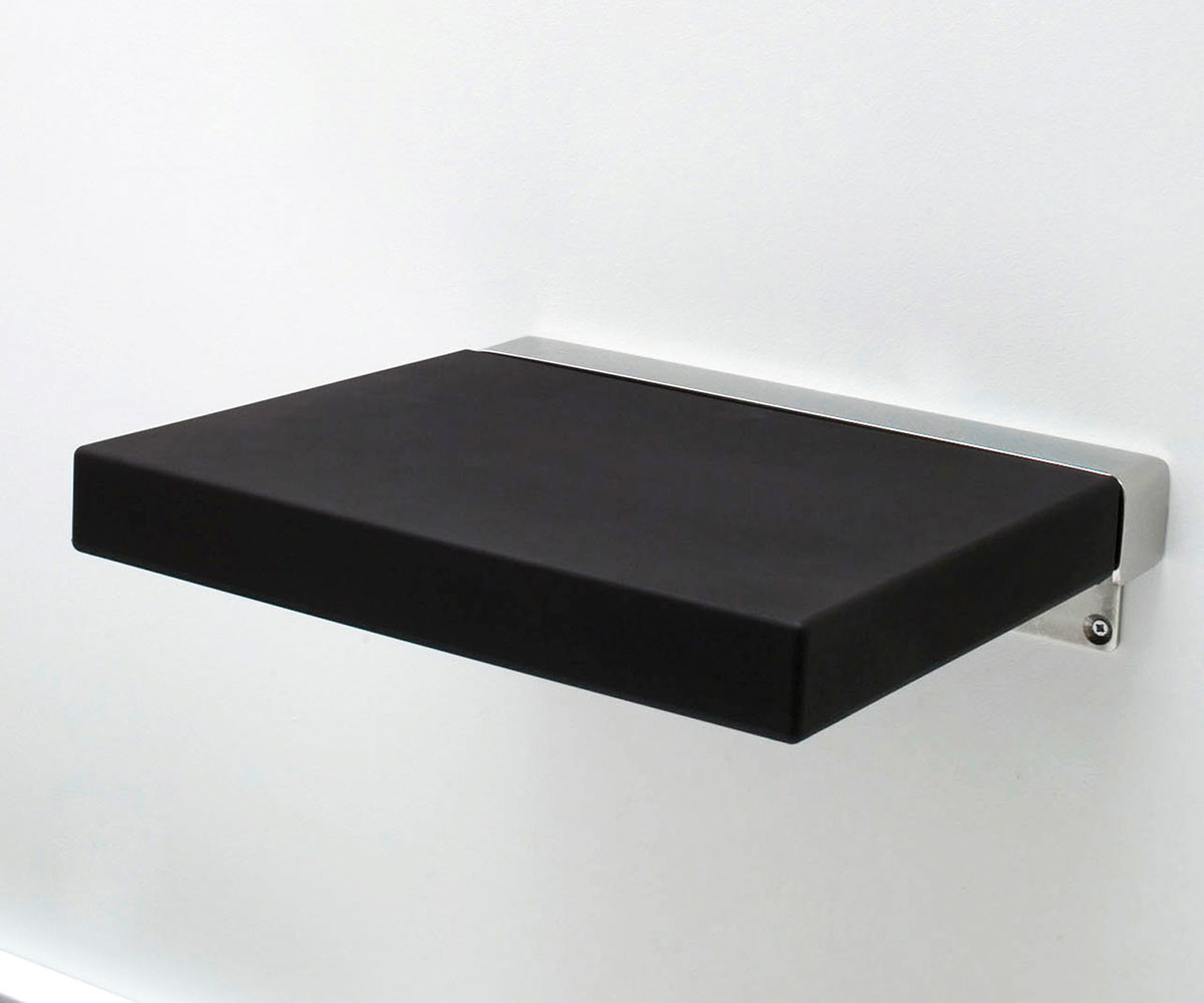 sedile doccia ribaltabile nero
