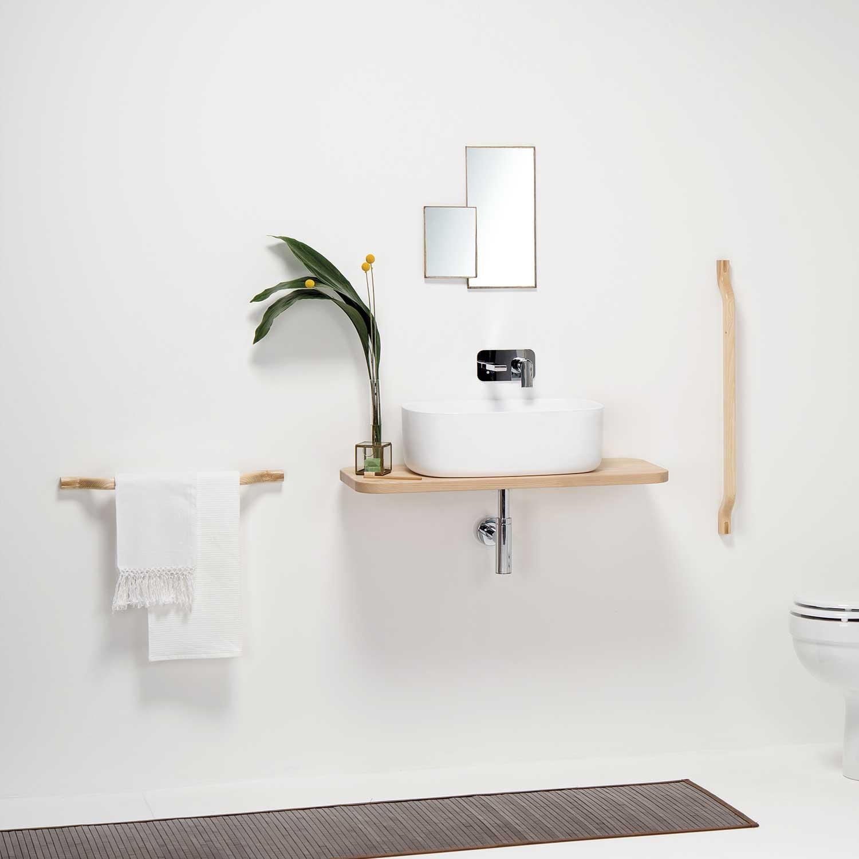 portasciugamani di design in legno di faggio