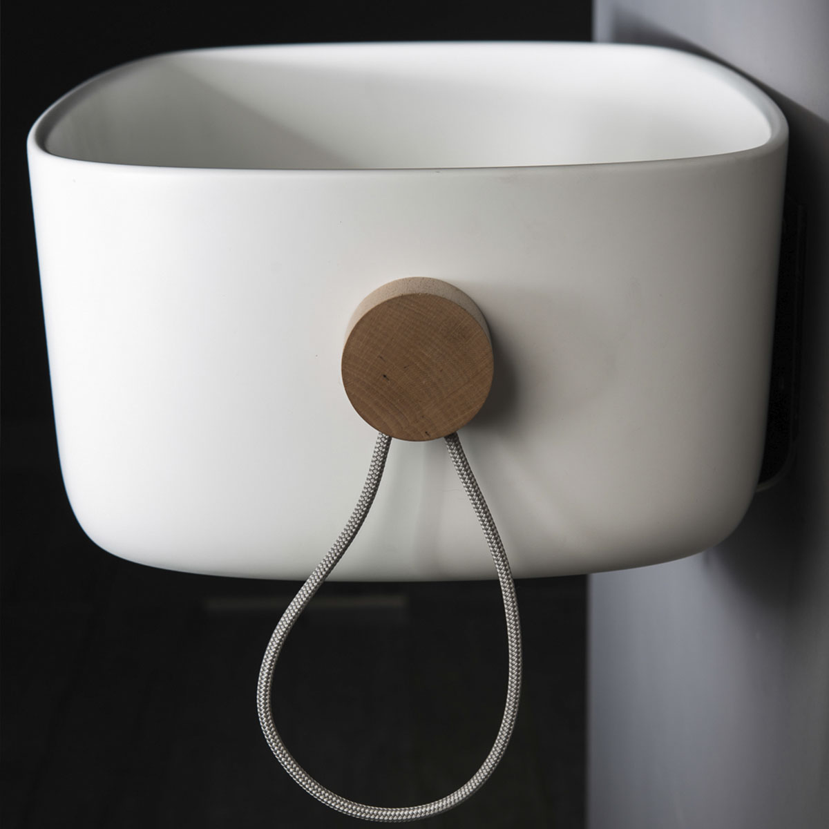 lavabo sospeso bagno bounce con portasciugamani laterale ever life design